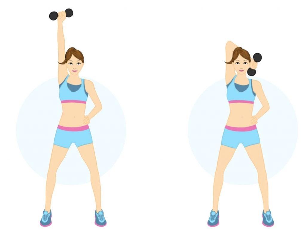 ejercicios mancuernas brazos flácidos