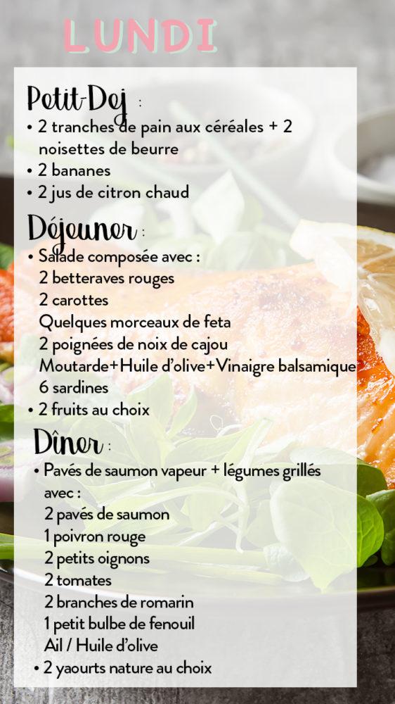 repas anti cellulite