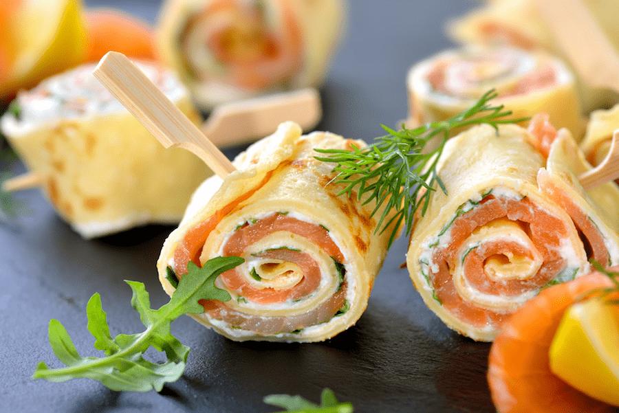 apéro léger roulés saumon