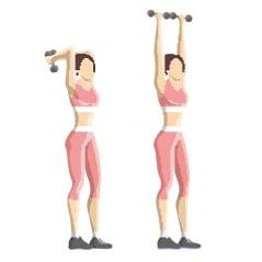 extensions assis pour réduire la cellulite sur les bras